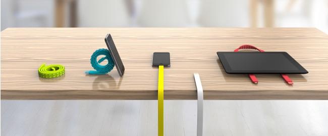 Nicht nur als Kabel, sondern auch als Smartphoneständer geeignet (Bild: Indiegogo).