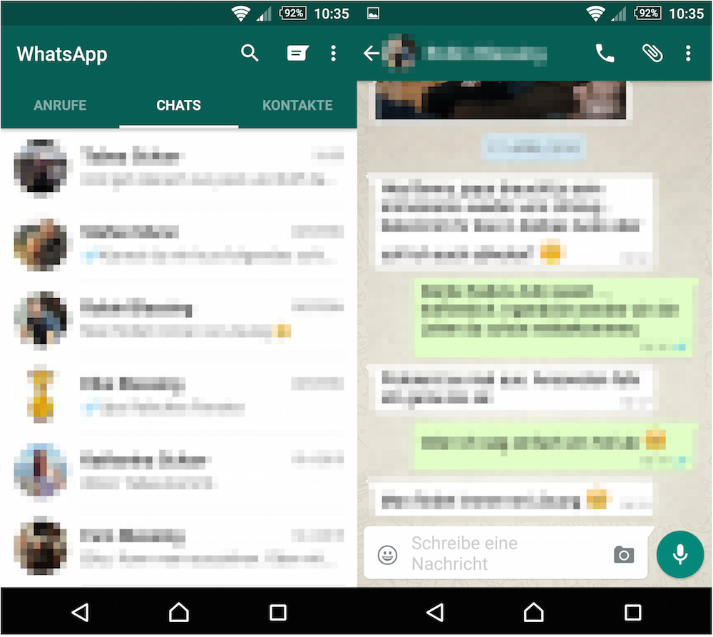 WhatsApp für Android im Material Design - RandomBrick.de