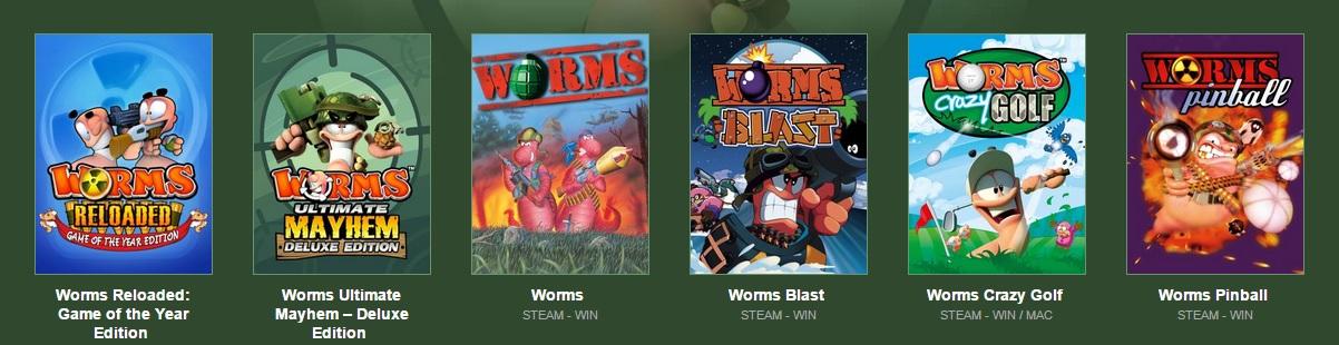Worms Spiele Bundle von Bundle Stars (Bild: Screenshot Bundle Stars).