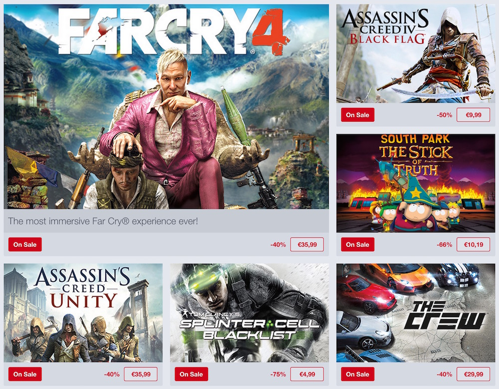 Humble Store Ubisoft Sale (Bild: Screenshot Humble Store).