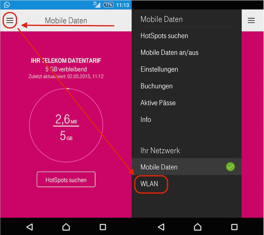 Telekom Hotspot Auto-Login deaktivieren (Bild: Screenshot Online Manager).