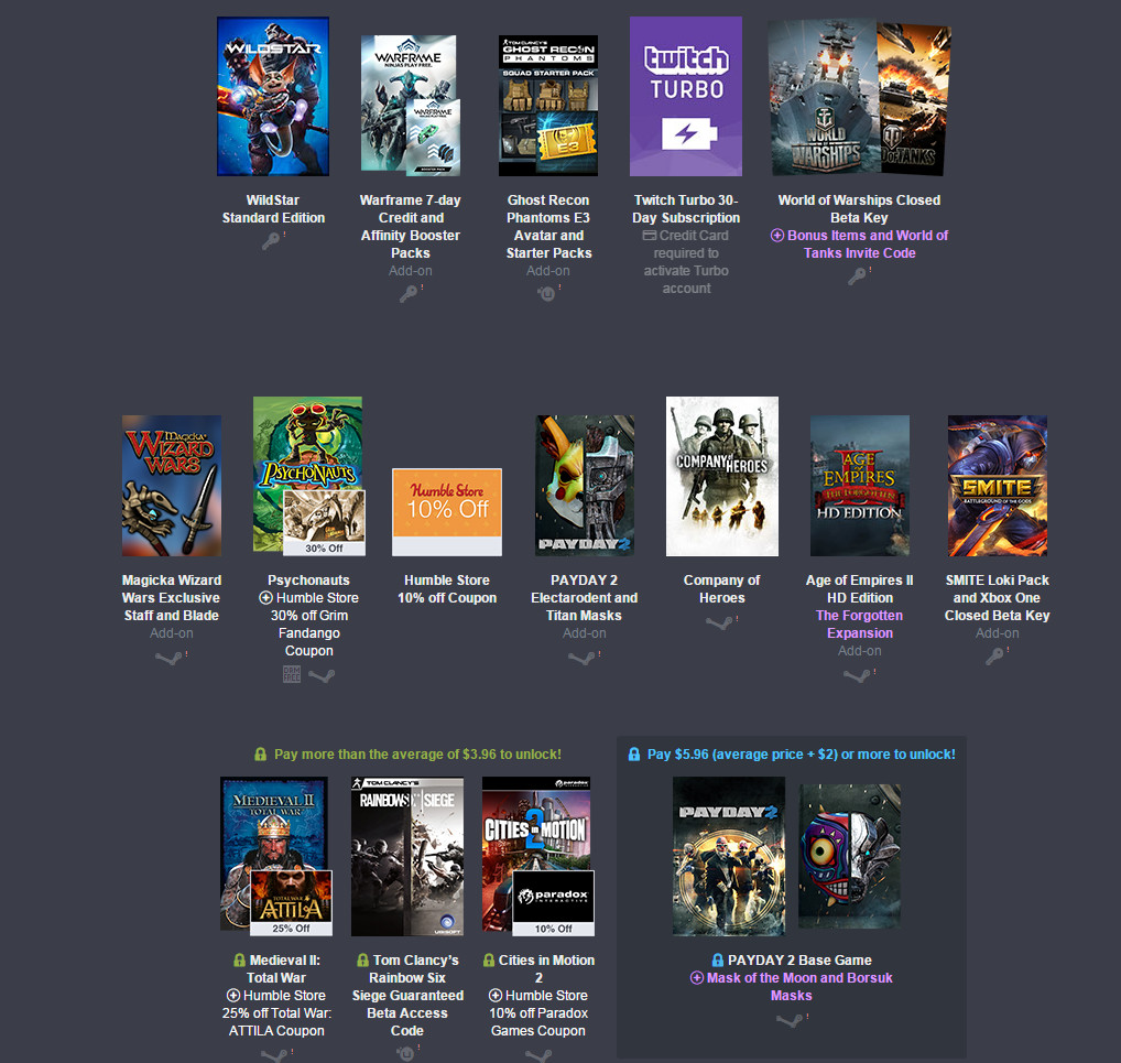 Humble Bundle Digital Ticket (Bild: Humble Bundle).
