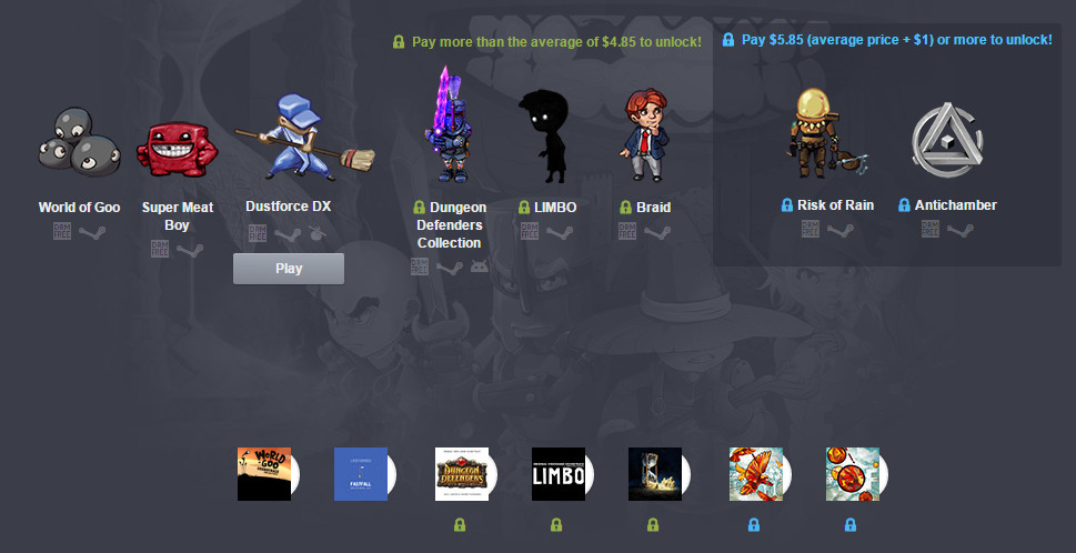 Humble Indie Bundle All-Stars (Bild: Screenshot Humble Bundle).