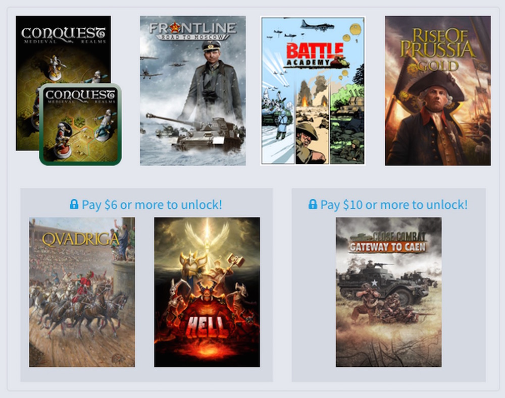 Humble Weekly Bundle: Slitherine (Bild Humble Bundle).