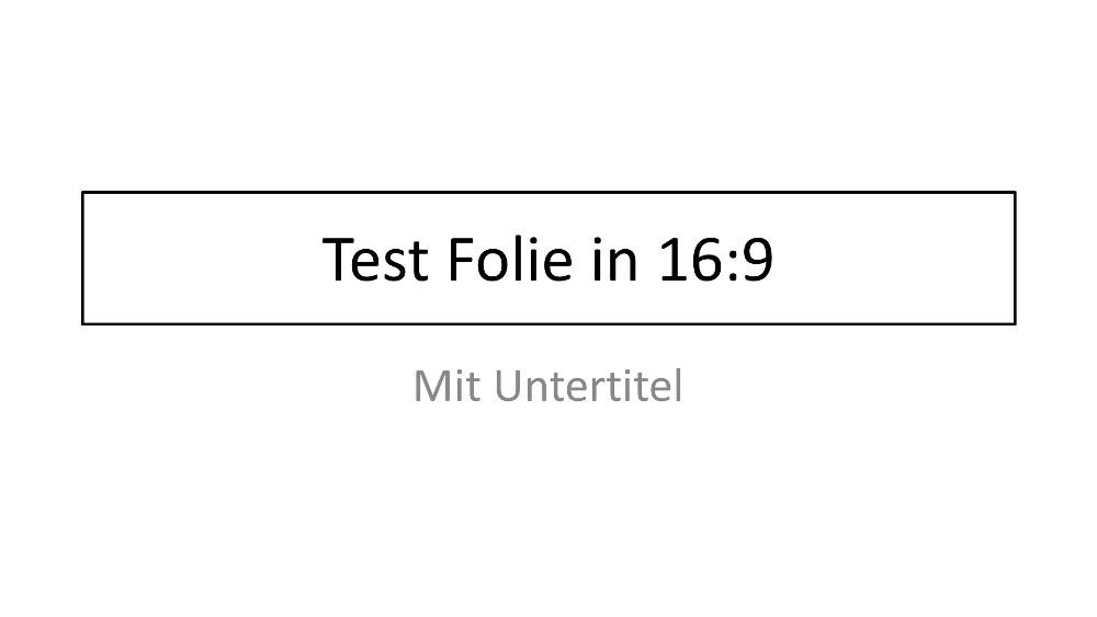PowerPoint Präsentation im Seitenverhältnis 16:9 (Bild: Screenshot PowerPoint).