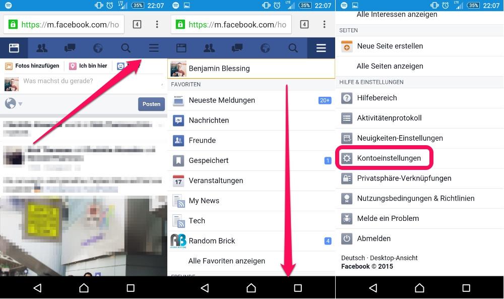 Spieleeinladungen bei Facebook blockieren (Bild: Screenshot Facebook).
