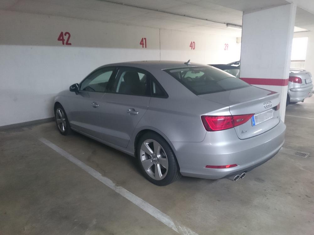 Heckansicht der Audi A3 Limousine (Bild: Benjamin Blessing).