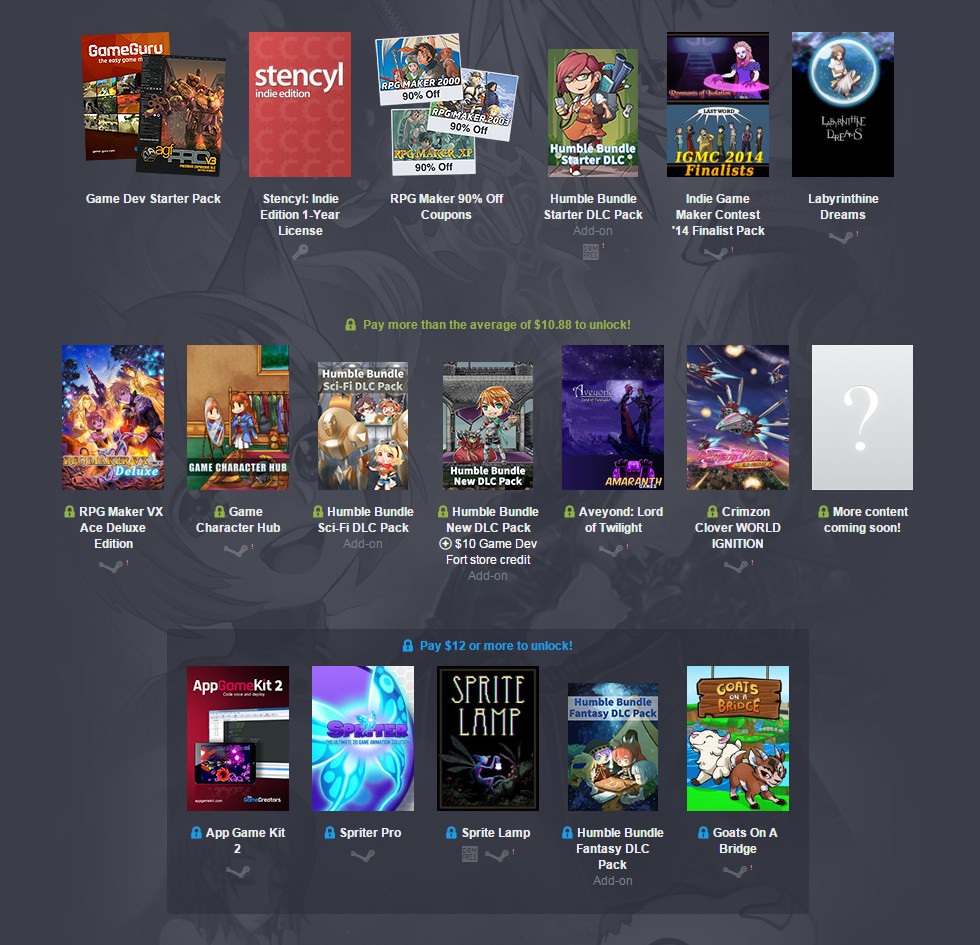 Das Humble Game Making Bundle richtet sich an Spieleentwickler (Bild: Screenshot Humble Bundle).