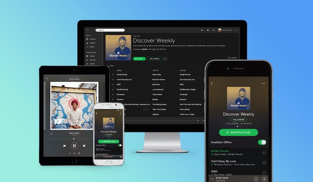 Spotify Dein Mix der Woche (Bild: Spotify).