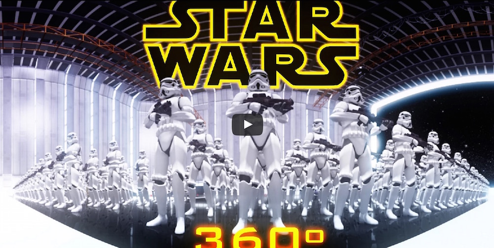 Star Wars - 360 Grad Virtual Reality auf YouTube (Bild: Screenshot YouTube).