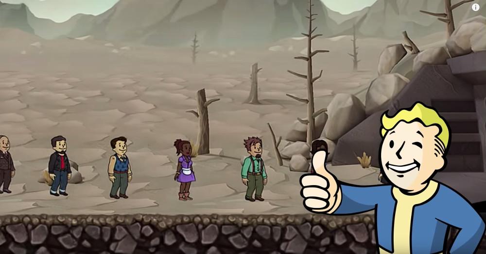 Fallout Shelter für iOS und Android (Bild: Screenshot YouTube).