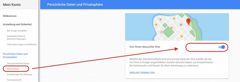 Deaktivieren der Zeitleiste von Google Maps (Bild: Screenshot Google).