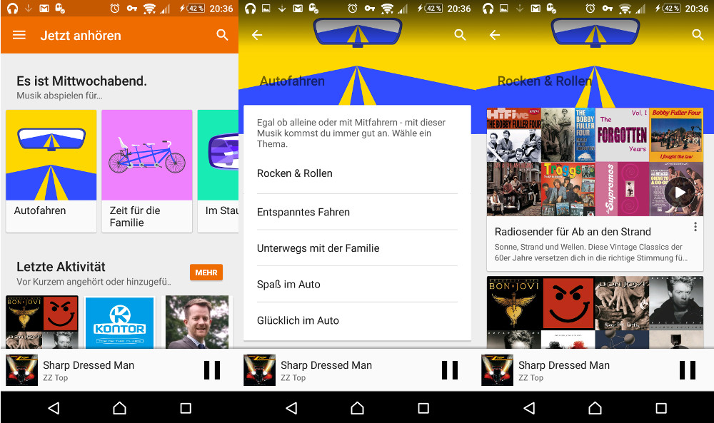 Google Play Musik jetzt mit kuratierte Playlisten (Bild: Screenshot Google Play Music).