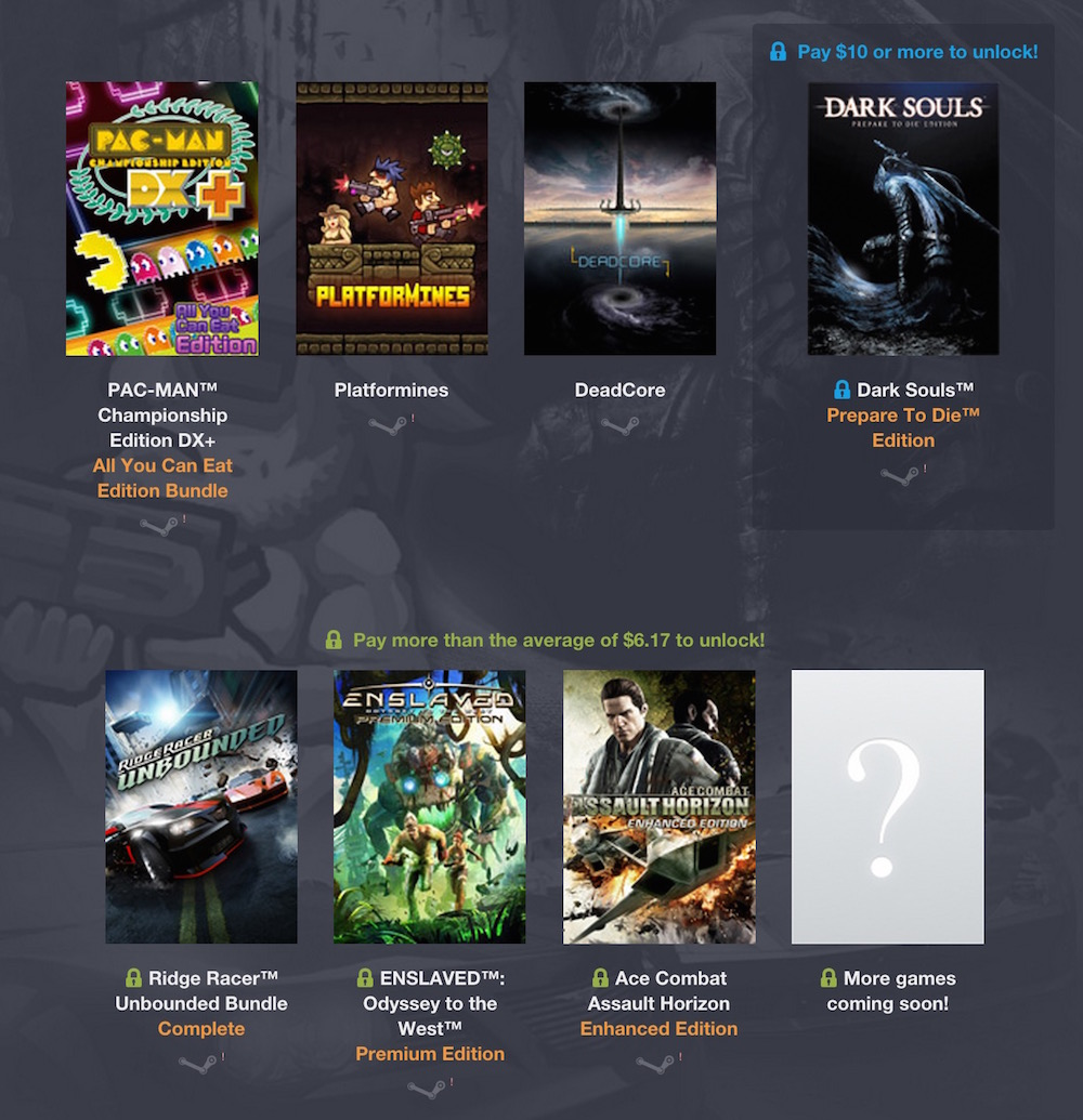 Humble BANDAI NAMCO Bundle (Bild: Screenshot Humble Bundle).