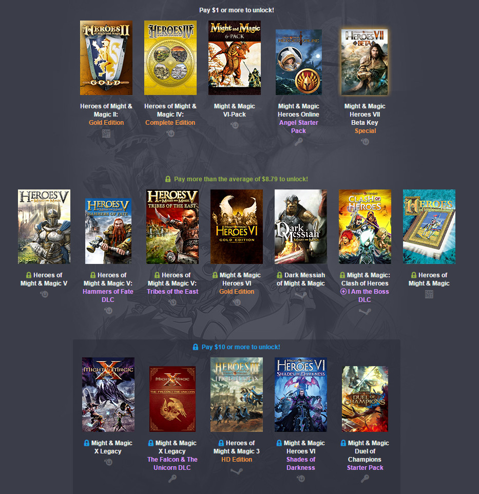 Humble Weekly Bundle Might and Magic (Bild: Screenshot Humble Bundle).
