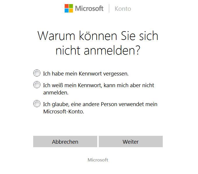 microsoft konto passwort wiederherstellen