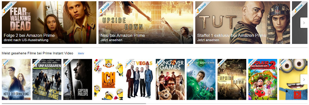 Amazon Prime Instant Video (Bild: Screenshot Amazon).