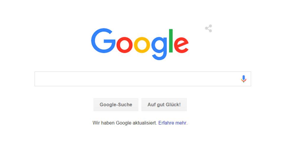 Das neue Google Logo (Bild: Screenshot Google.de).