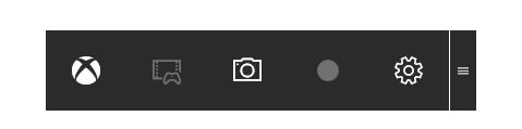Die Bildschirmaufnahme für Windows 10 erscheint als Leiste (Bild: Screenshot Windows 10).