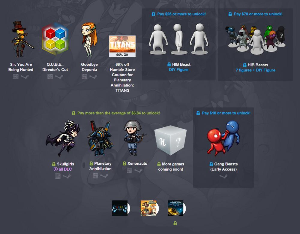 Das Humble Indie Bundle 15 bietet DRM freie Spiele zum kleinen Preis (Bild: Screenshot Humble Indie Bundle 15).