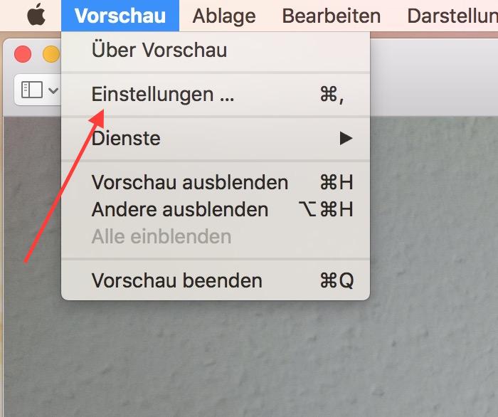 Die Einstellungen zur Vorschau befinden sich im entsprechenden Menü (Bild: Screenshot OS X El Capitan).