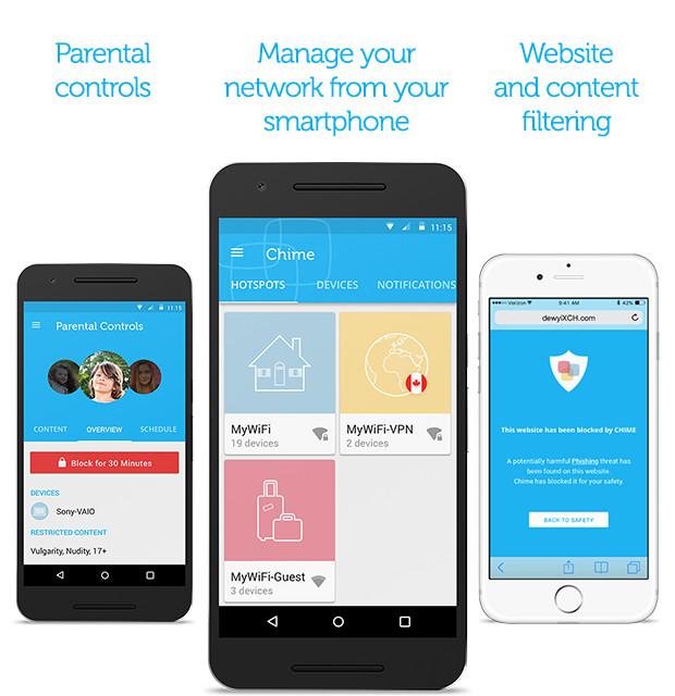 Zusätzlich ist eine Chime-App für iOS und Android erhältlich (Bild: Indiegogo.com).