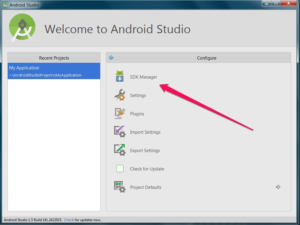 Android Studio SDK Manager (Bild: Screenshot Android Studio).