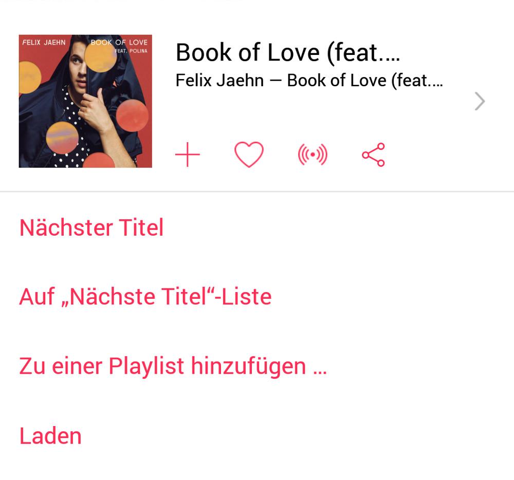 Songs in Apple Music lassen sich vielseitig weiter verwenden (Bild: Screenshot Apple Music).