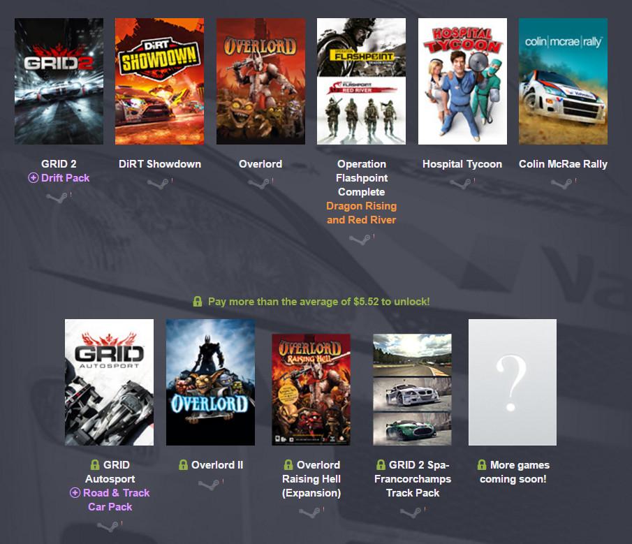 Humble Codemasters Bundle (Bild: Screenshot Humble Bundle).