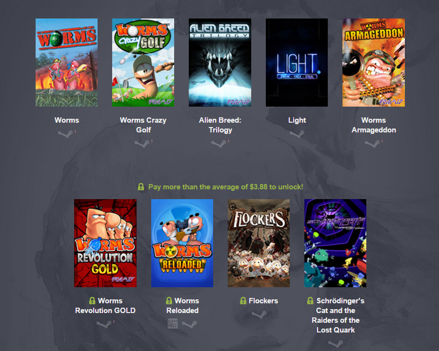 Humble Weekly Bundle - Team17 - The Threequel (Bild: Screenshot Humble Weekly Bundle).