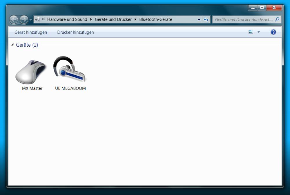 Ein Bluetooth Gerät unter Windows hinzufügen (Bild: Screenshot Windows 7).