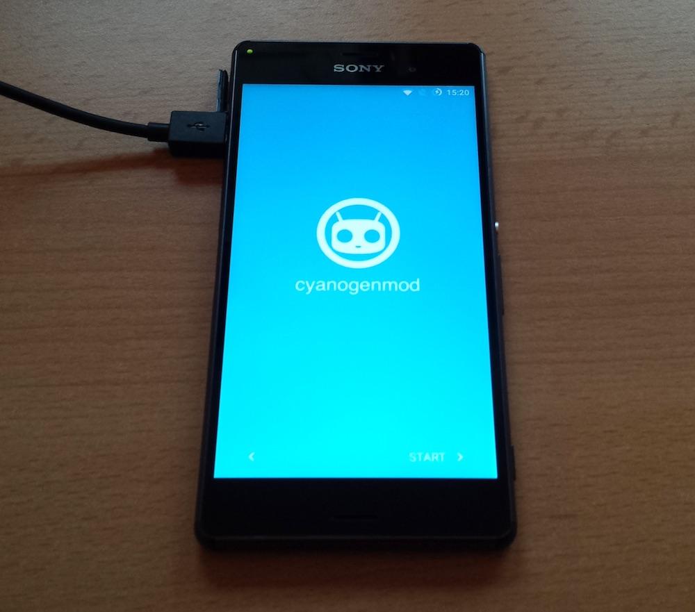 CyanogenMod auf dem Sony Xperia Z3 (Bild: Benjamin Blessing).