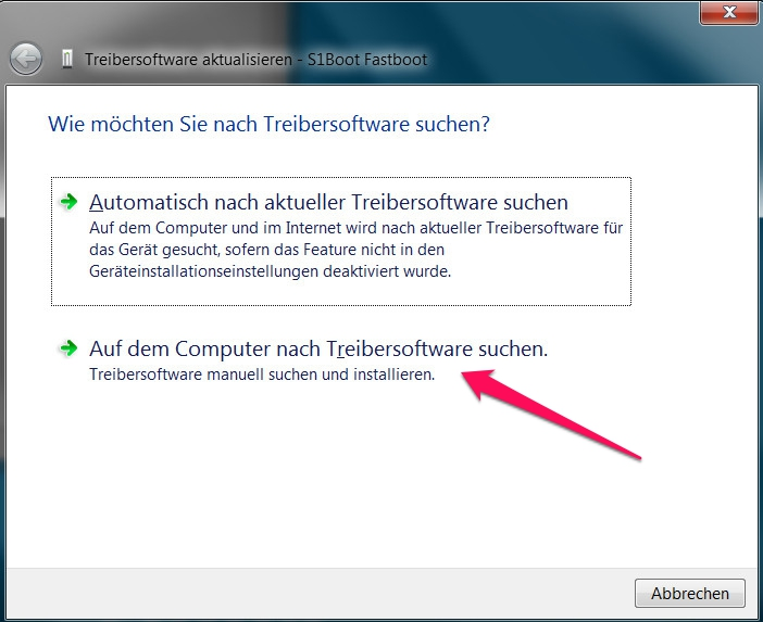 Treibersoftware für das Sony Xperia Z3 aktualisieren (Bild: Screenshot Windows).