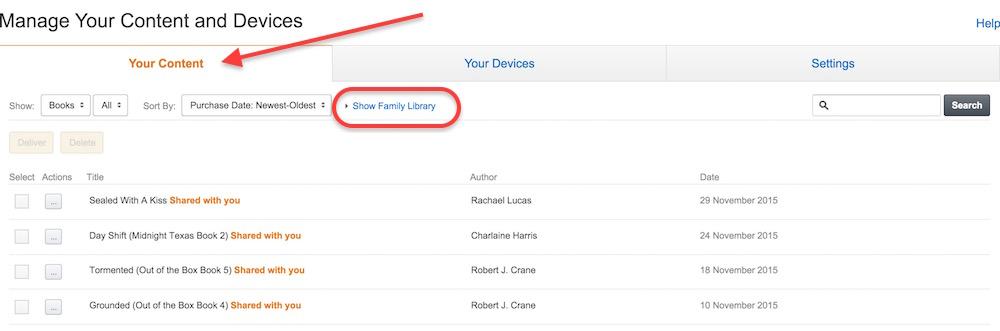 Amazon Inhalte der Familienbibliothek anzeigen (Bild: Screenshot Amazon.co.uk).