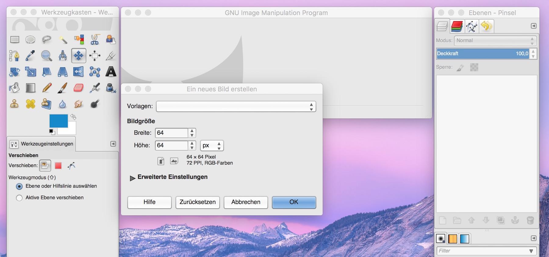 Bild in GIMP erstellen