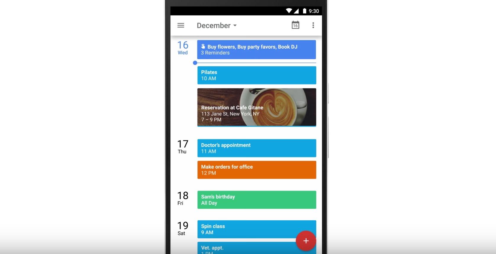 Erinnerungen in Google Kalender