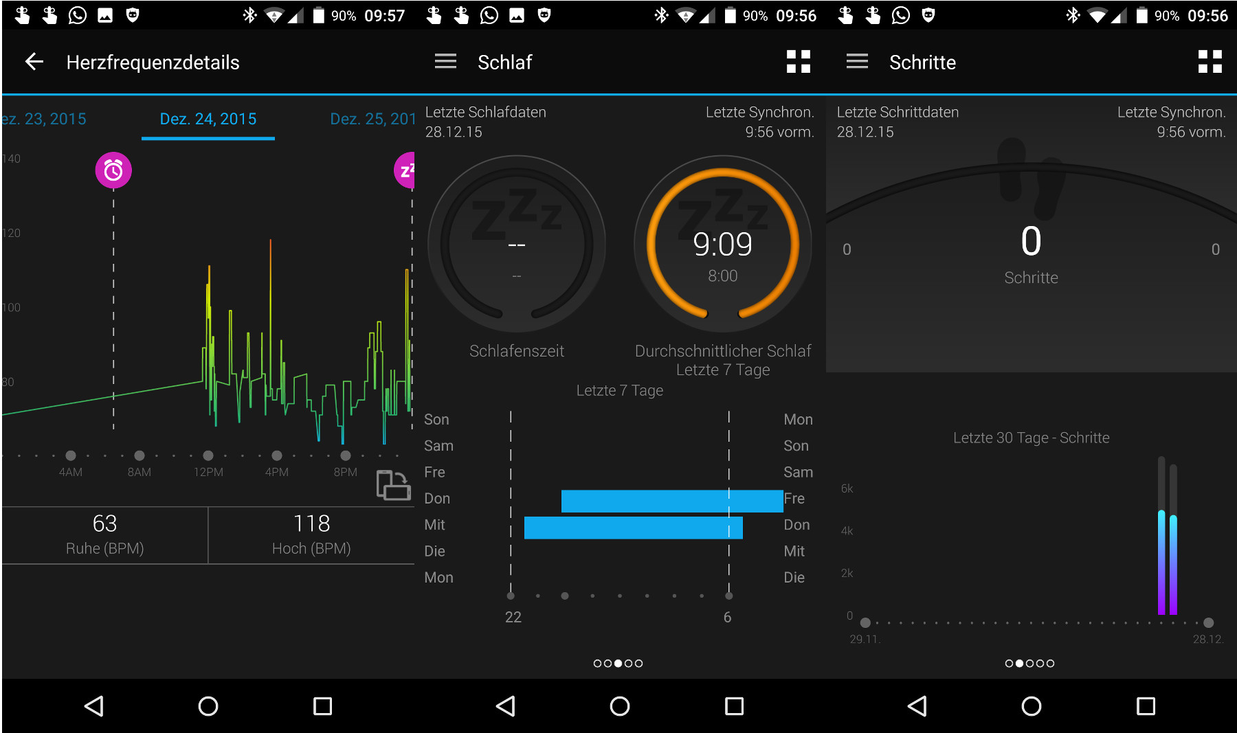 Garmin Connect mit vivosmart HR