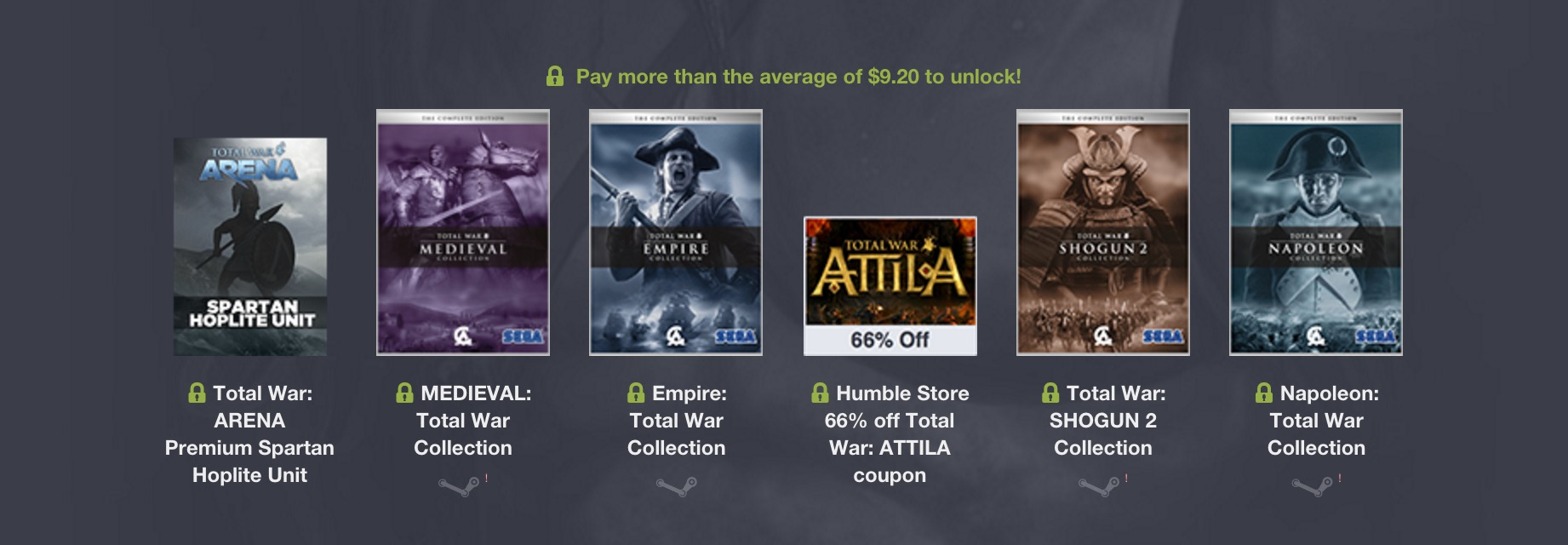 Humble Weekly Bundle: Total War Encore (Bild: Humble Bundle).