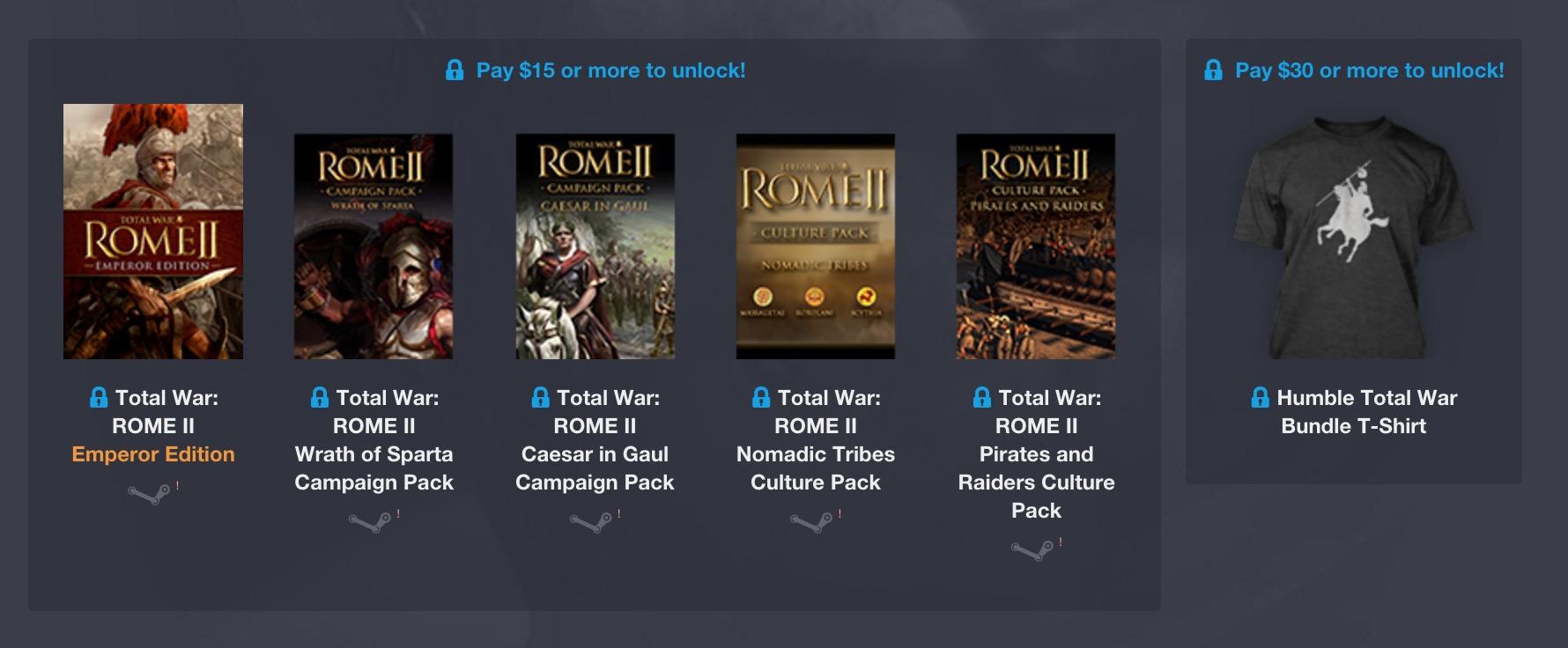 Humble Weekly Bundle: Total War Encore (Bild: Humble Bundle).