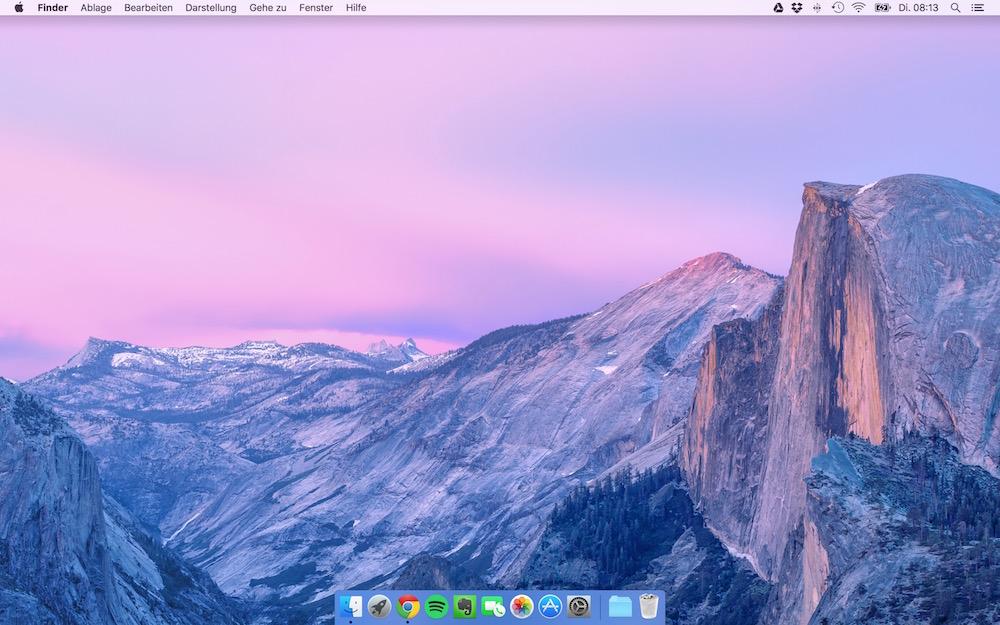 Mac OS X El Capitan Desktop (Bild: Screenshot OS X).