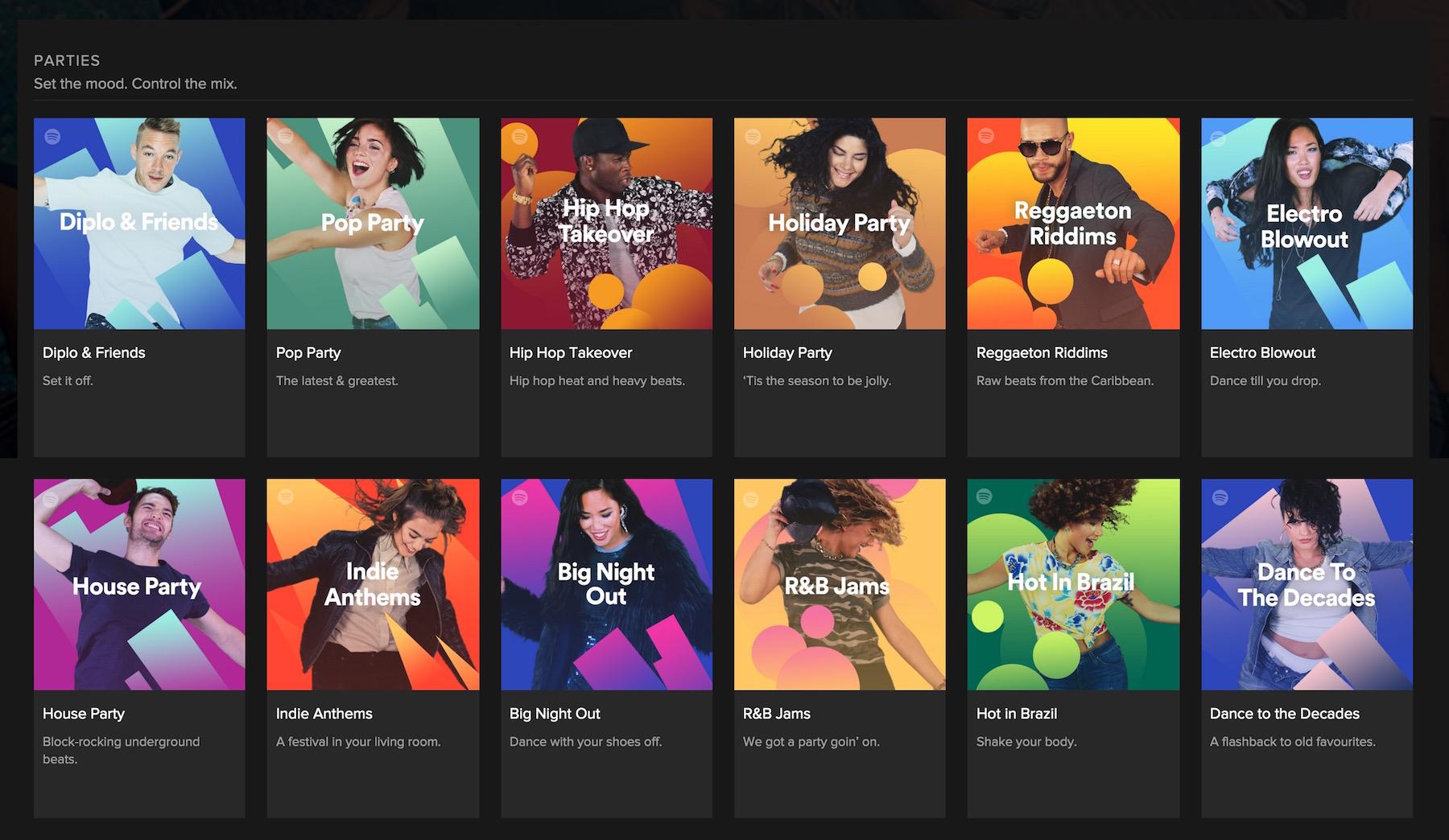 Spotify Party-Playlisten