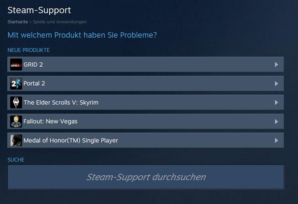 Wird das Spiel nicht angezeigt, lässt sich nach diesem suchen (Bild: Screenshot Steam).