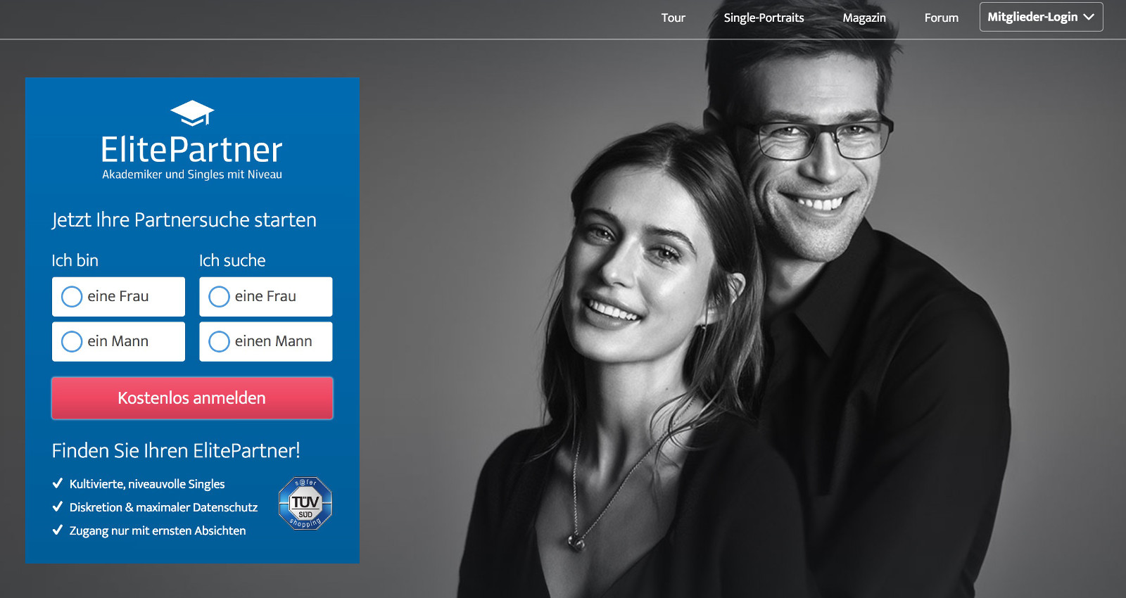 Partnersuche mit ElitePartner