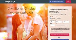 Startseite von single.de