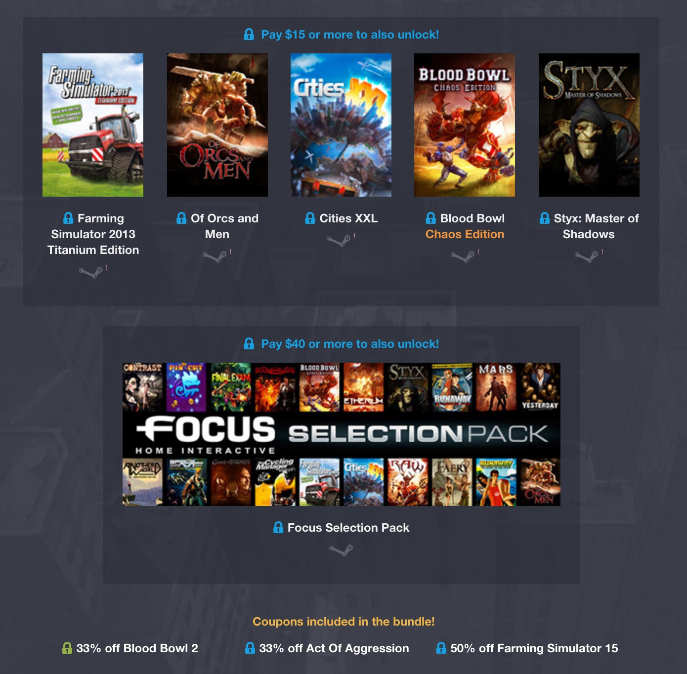 Humble Weekly Bundle: Focus Home Interactive 2