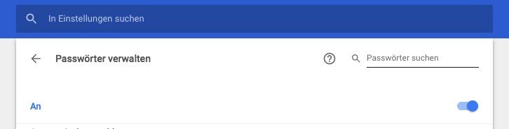 Speichern von Passwörter unter Google Chrome ausschalten