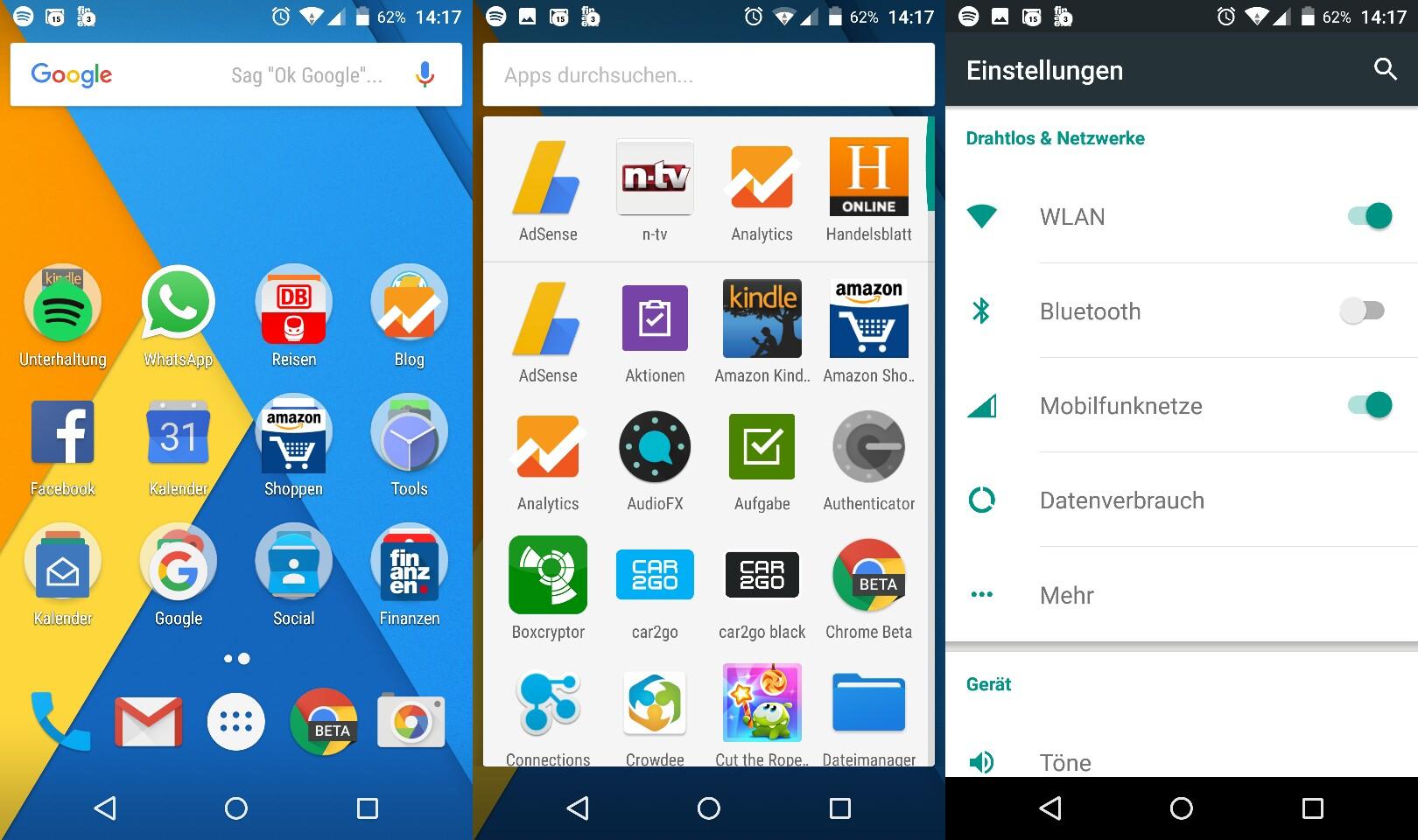 Android-Screenshots zu einem Bild zusammenfügen
