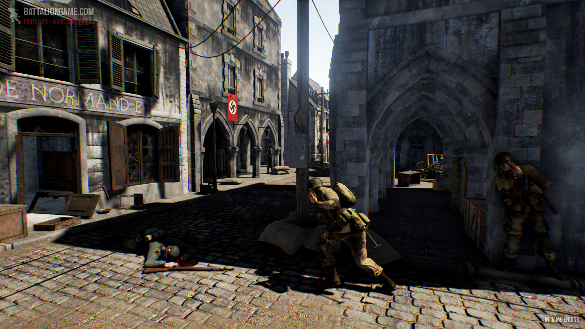 Battalion 1944 In-Game Stadt