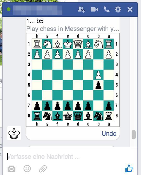 Facebook Messenger Schach-Funktion