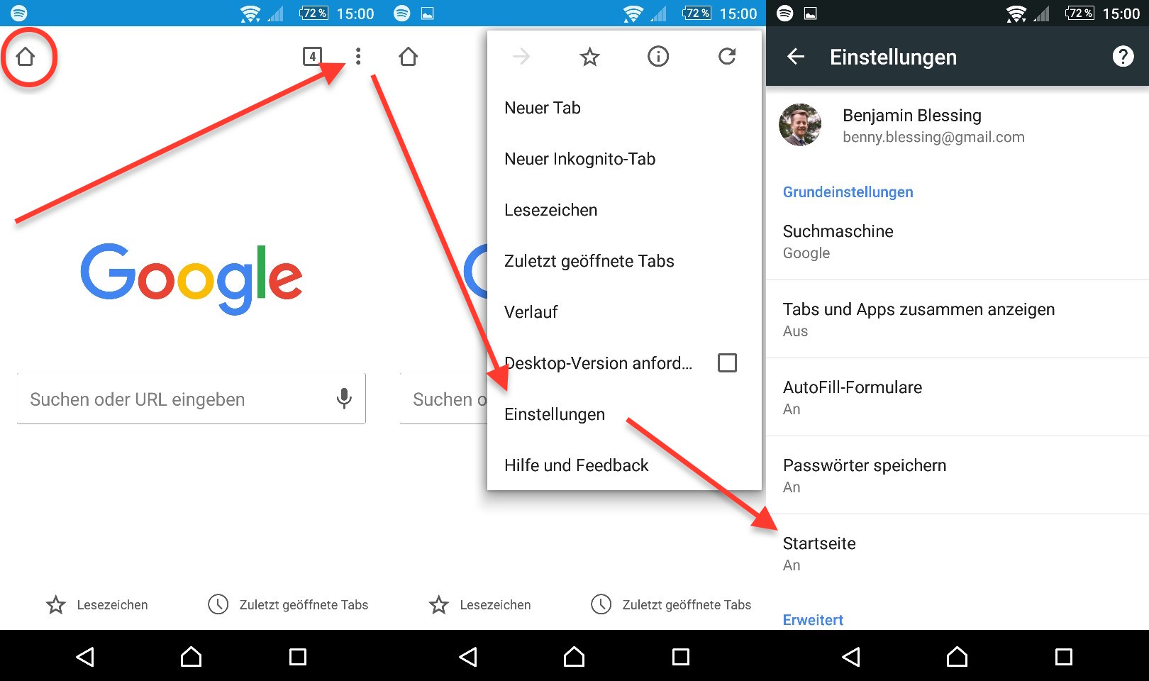 Google Chrome App Startseite löschen oder ändern   RandomBrick.de